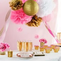 Pink and Gold Bridal Shower Decorations Idea - Party City