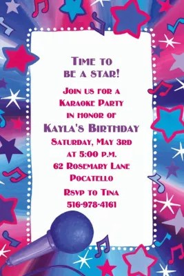 Custom Rock Star Karaoke Invitations Party City