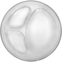 CLEAR Plastic Divided Dinner Plates 20ct - Party City