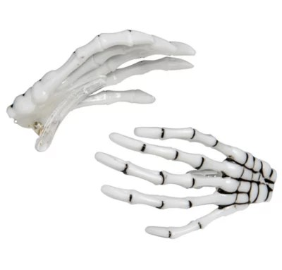 skeleton hand hair clips 2ct