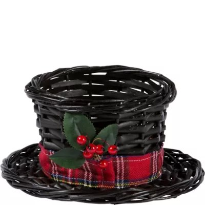 Small Snowman Hat Basket 8 12in x 4in  Party City