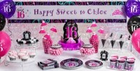 Sweet 16 Sparkle Party Supplies - Sweet 16 Birthday ...