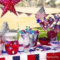 Outdoor Party Drinks Station Idea - Patriotic Party Ideas ...