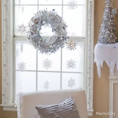 Winter Snowflakes Window Idea