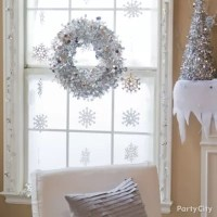 Winter Snowflakes Window Idea - Party City