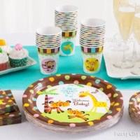 Jungle Theme Baby Shower Place Settings Idea - Party City