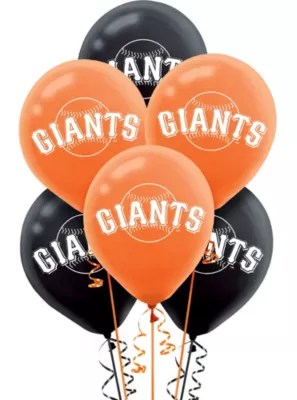 San Francisco Giants Balloons 6ct Party City