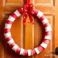 Jolly Paper Cup Wreath DIY - DIY Wreath Ideas - Christmas ...
