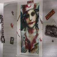 Crazy Nurse Door Decorating Idea - Scary Asylum Porch ...