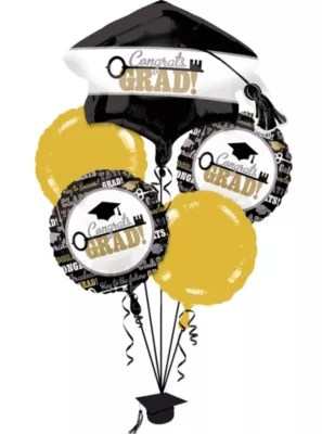 Graduation Balloon Bouquet 11pc Key To Success Party City