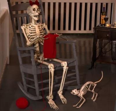 Knitting Grandma Skeleton Greeter Kit  Party City