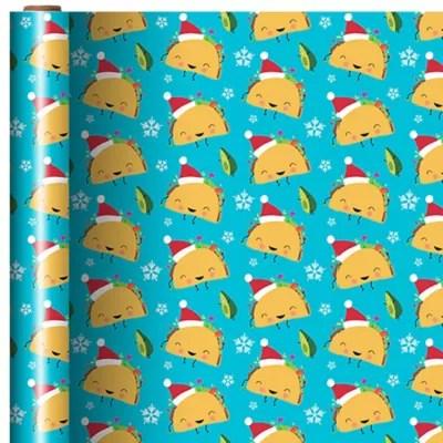 holiday taco gift wrap