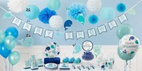 Blue Baby Whale Baby Shower Decorations - Whale Gender ...
