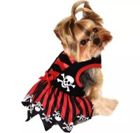 Red Pirate Dog Costume - Party City