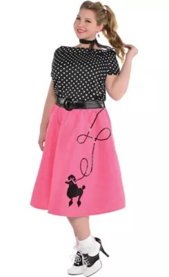 Adult 50s Flair Poodle Skirt Costume Plus Size  Party City