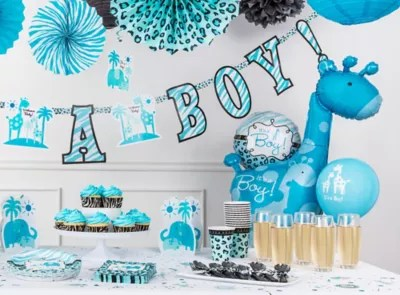Blue Safari Boy's Baby Shower Ideas