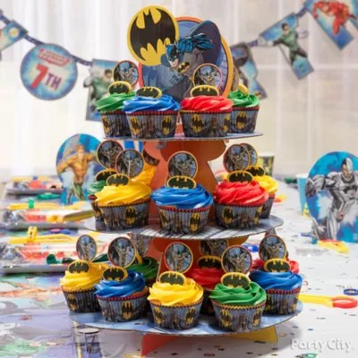 Justice League Cupcake Tower Idea Party City Party City