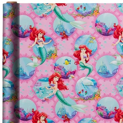 Little Mermaid Gift Wrap 8ft  Party City