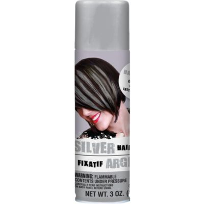 silver temporary hair color spray