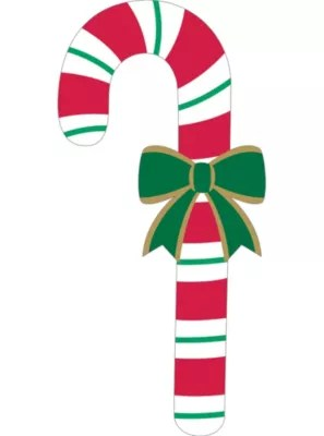 Glitter Candy Cane Cutout 27in  Party City