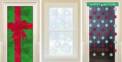 Christmas Door Decorations & Door Curtains