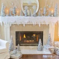 Snow Scene Mantel Decorating Idea - Party City