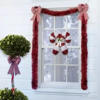 Candy Cane Window Idea
