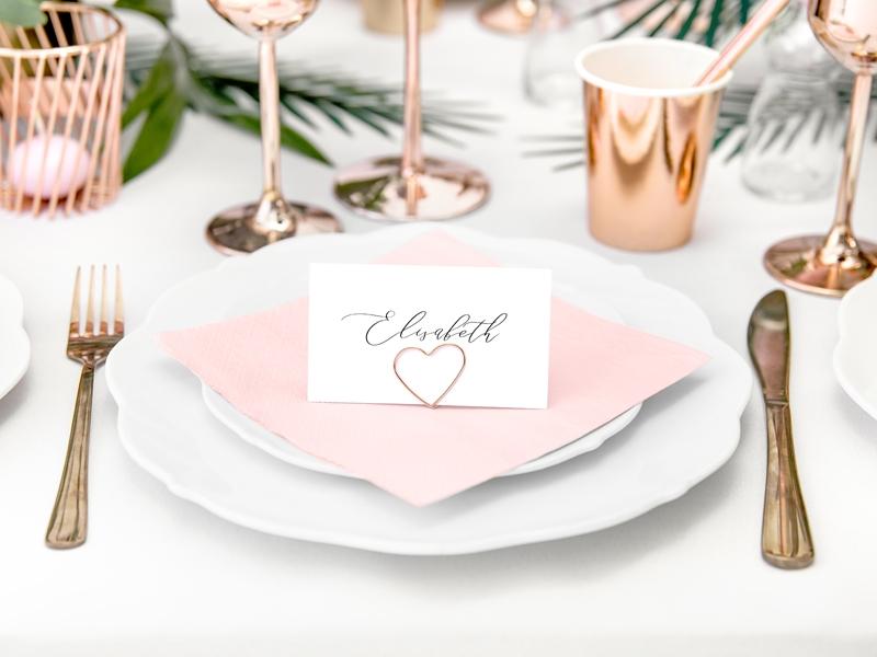 Tischkartenhalter  Herzen  rose gold  10Stck