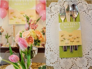 Vera's Peach and Green Shabby Chic Themed Party – 1st Birthday