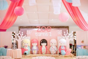 Zoe's Kokeshi Doll Themed Party – 1st Birthday