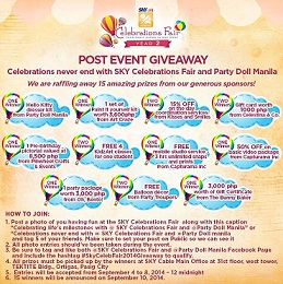 Sky Celebrations Fair X Party Doll Manila's Post Event Giveaway