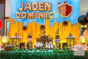 Jaden's Clash of Clans Themed Party -1st Birthday