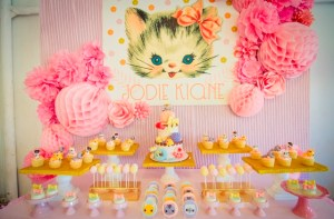 Jodie's Vintage Kitty Cat Themed Party – 1st Birthday