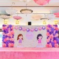 Paper dolls theme party stage