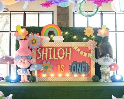 Shiloh's Trolls Themed Party – 1st Birthday