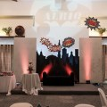 super heroes party stage