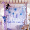 winter fairies theme party stage