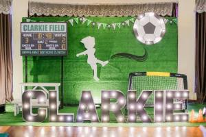 Clarkie's Soccer Themed Party – 1st Birthday