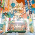 hawaiian theme party stage