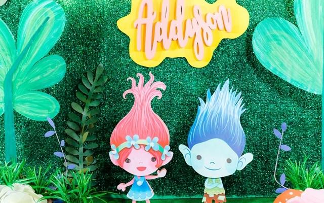 Adysson's Magical Trolls Themed Party – 7th Birthday