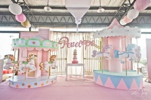 Penelope's Dainty Carousel Themed Party – 1st Birthday