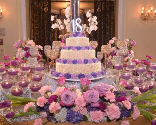 Julienne's Intimate Purple Dream Debut Party