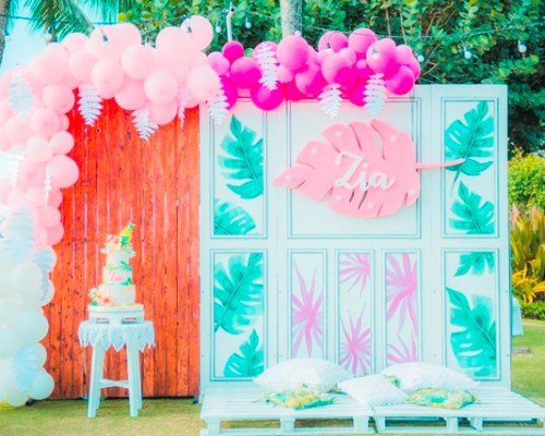 Zia's Tropical Chic Themed Party – 1st Birthday