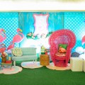 flamingo theme party stage