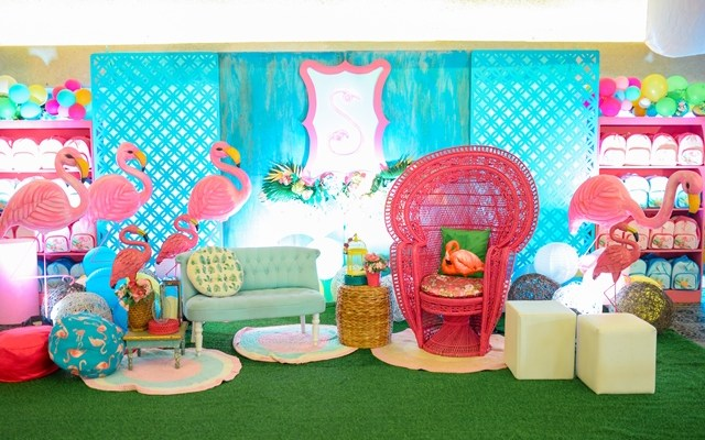 Scarlett's Fancy Flamingo Themed Party – 1st Birthday