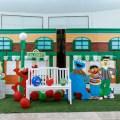 Sesame Street theme party stage