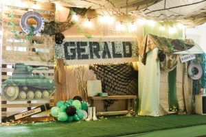 Gerald's Army Themed Party – 7th Birthday