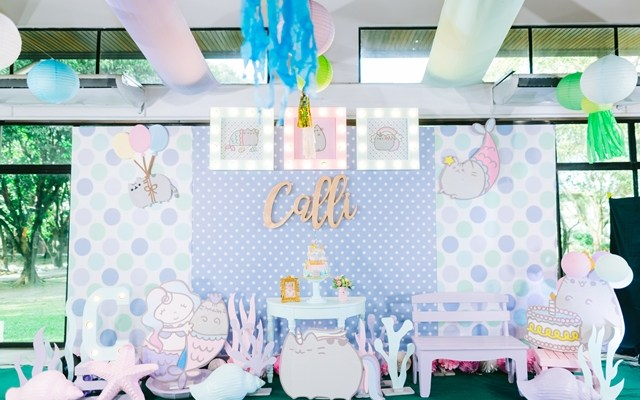 "Calli's ""Under the Sea with Pusheen"" Themed Party – 1st Birthday"