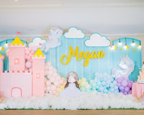 Megan's Magical Unicorn and Princess Theme Party – 1st Birthday