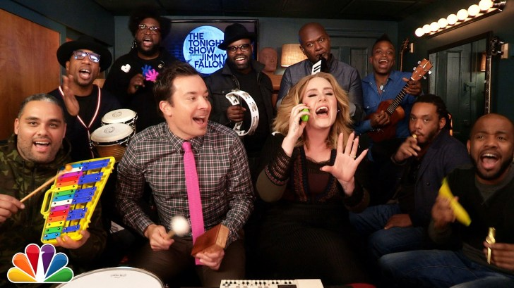 Jimmy-Fallon-Adele-The-Roots-Sing-Hello-wClassroom-Instruments